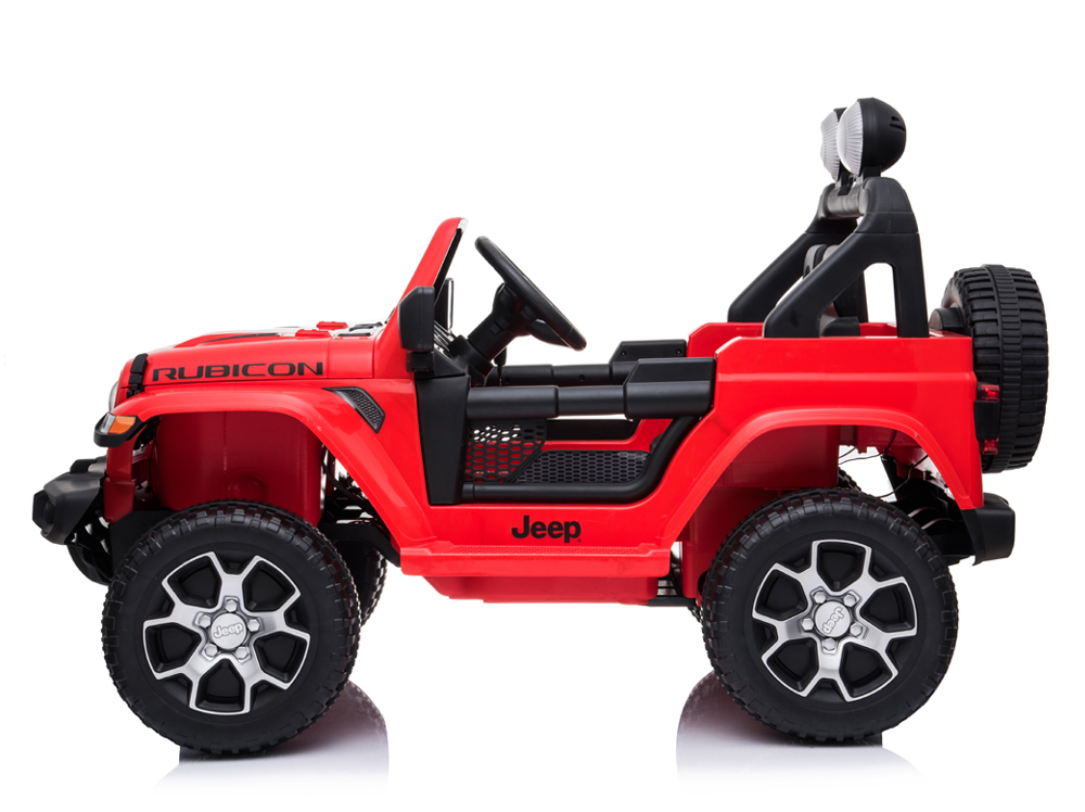 Licensed Jeep Wrangler Rubicon Red